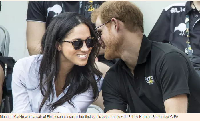 b12b53fff4e When Meghan Markle and Prince Harry made their first public appearance  together as a couple at the Invictus Games in Toronto in September